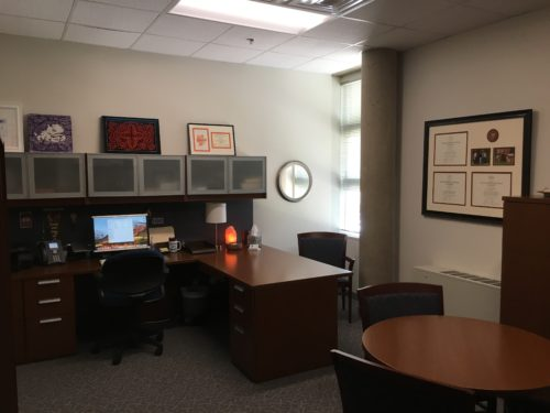 My new office in Moudy South at TCU.